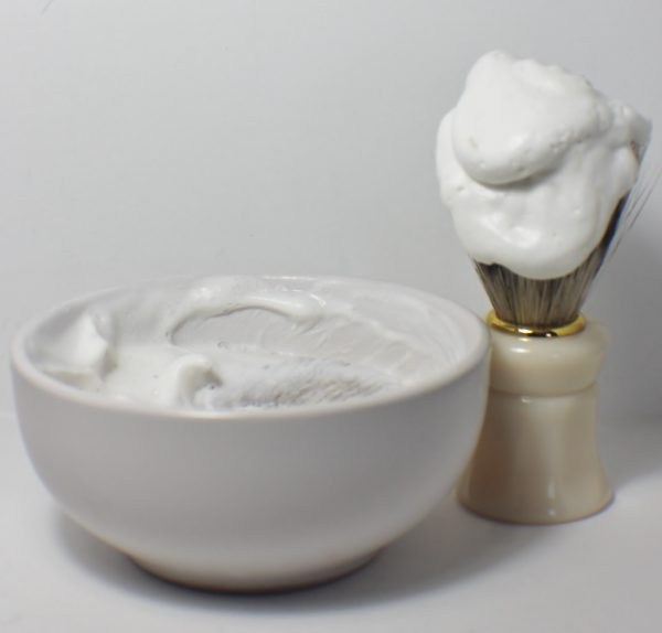 Lather Shave Bowl and Brush